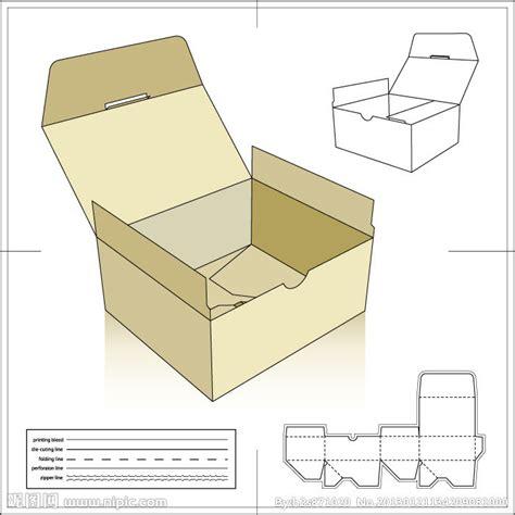 纸盒展开图矢量图 包装设计 广告设计 矢量图库 昵图网nipic com