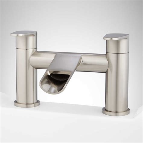 waterfall bathtub faucets pagosa waterfall deck mount tub faucet ebay