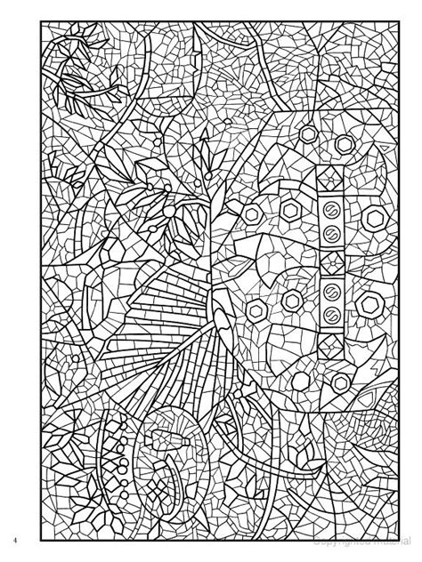 printable mosaic coloring book pages 9 best images about icolor quot mosaics quot on dovers