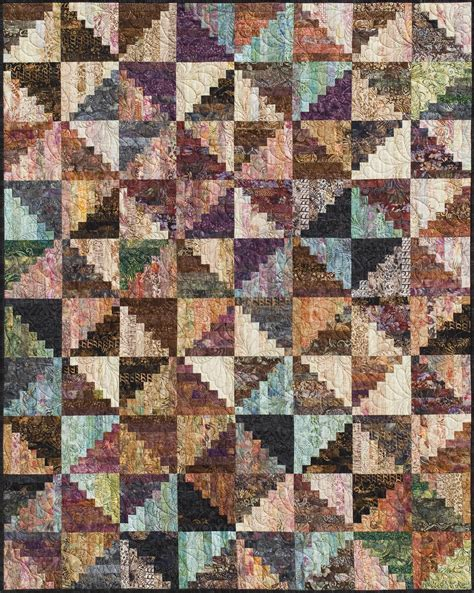 Log Cabin Quilt Pattern Split Log Cabin Fabric Kit Quilting By The Bay In