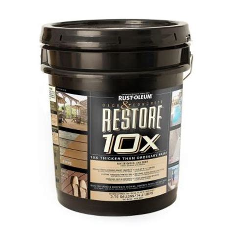 Restore Deck Liquid Armor Resurfacer by Rust Oleum Restore 4 Gal Tint Base Deck And Concrete 10x