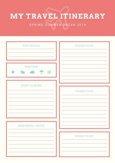 canva terms of use blue orange vintage itinerary planner templates by canva