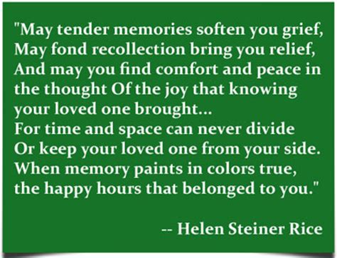 comforting words at a funeral helen steiner rice sympathy quotes quotesgram