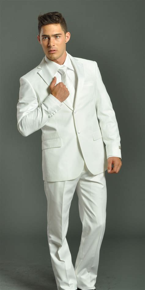 how to wear a white suit for your wedding brides men women in white suit men s two button solid white