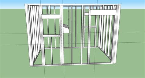 How To Make Shed Windows by Build A Shed In Sketchup