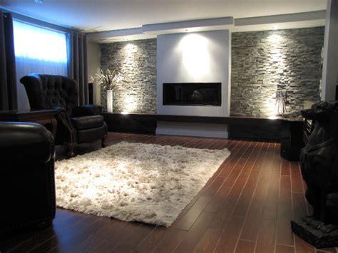 Livingroom Rugs by Am 233 Nagement D Un Sous Sol Chic Et Contemporain