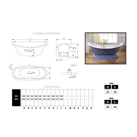 vasca da bagno in ghisa vasca da bagno in ghisa smaltata e verniciata con piedini