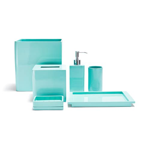 bathroom accessories in blue ideas