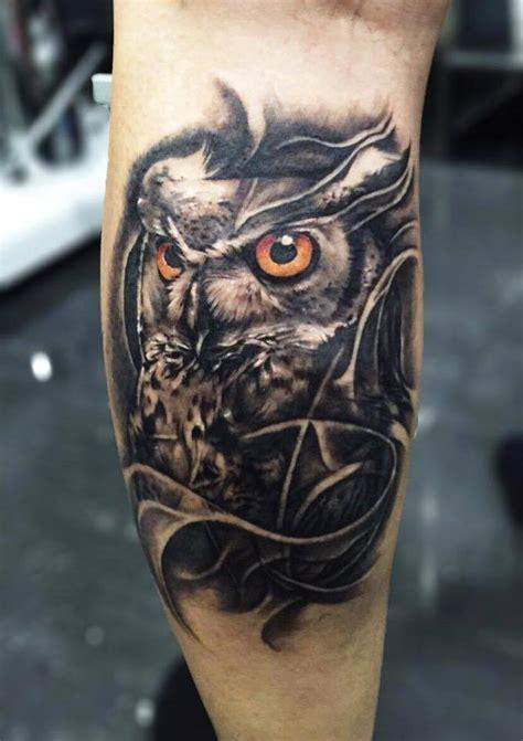owl tattoo calf leg tattoo owl clipart library