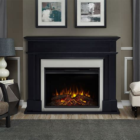 harlan grand infrared electric fireplace mantel package in