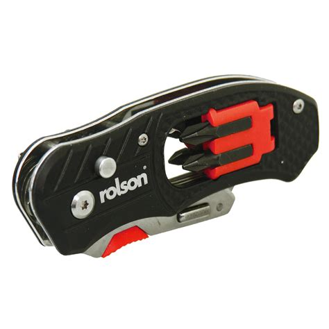 folding screwdriver rolson 36004 folding utility knife with screwdriver and bits