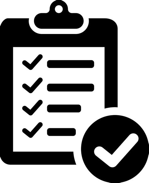 Verification Of Delivery List Clipboard Symbol Svg Png ...