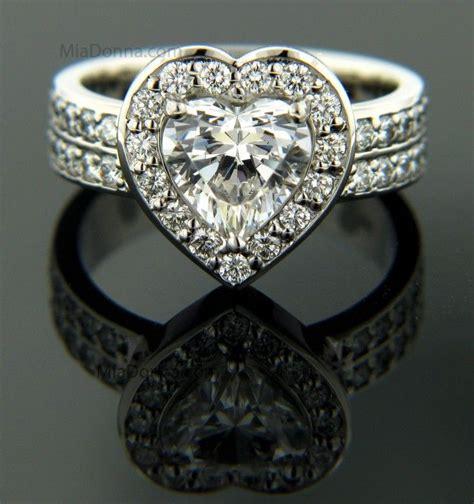 i want a heart shaped diamond wedding ring like this ooh