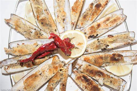 come cucinare i cannolicchi mitili o molluschi ricette di cucina