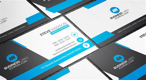 business cards shapes templates free stunning blue corporate business card template