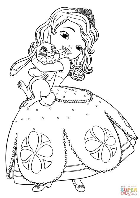 sofia the coloring pages sofia and clover coloring page free printable coloring pages