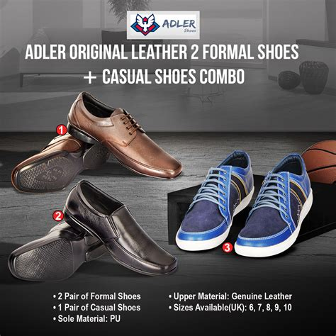 buy adler original leather 2 formal shoes casual shoes
