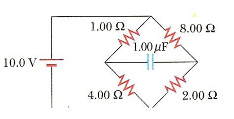 un capacitor un resistor y una bateria estan conectados en serie tarea