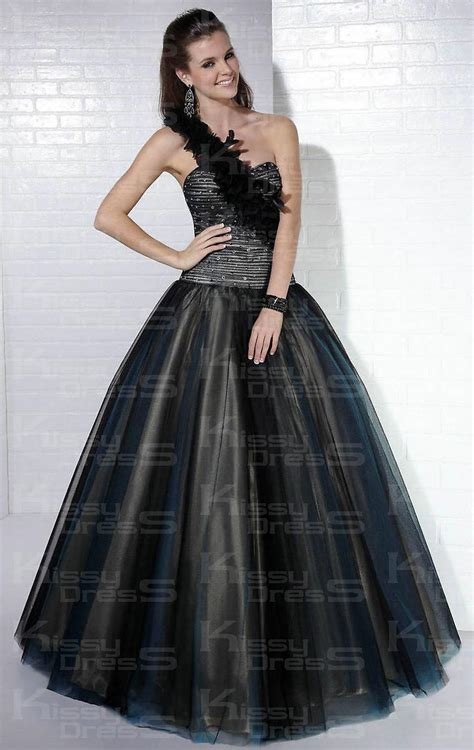 beaded tulle gown tulle beaded strapless black gown 2013