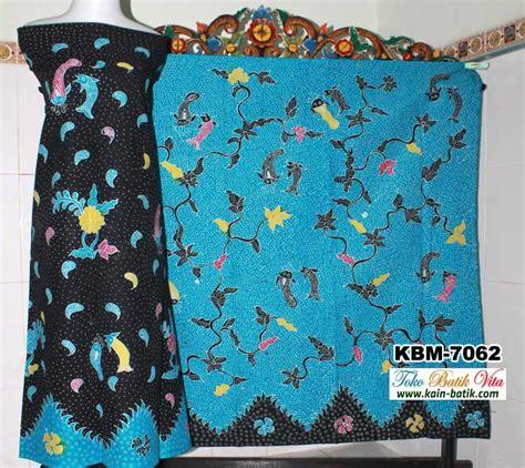 Batik Tulis Pria Motif Ikan batik madura pagi sore kbm 7062 kain batik murah