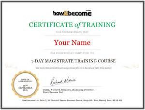 Sample Letter Certification Attendance online magistrate training course recruitment masterclass