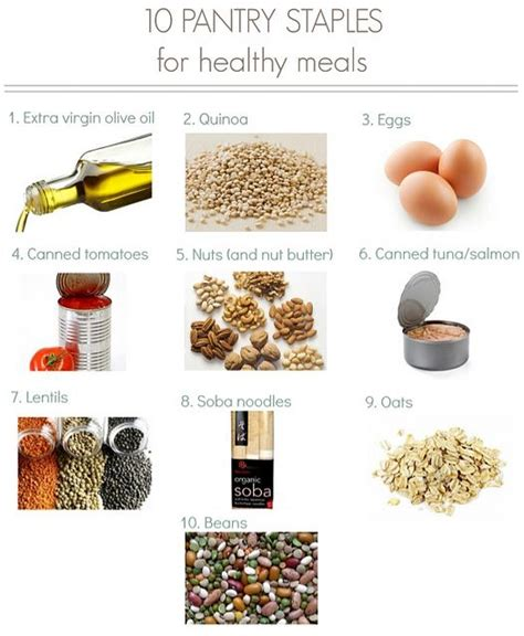 Healthy Pantry Staples by 10 Pantry Staples For Healthy Meals