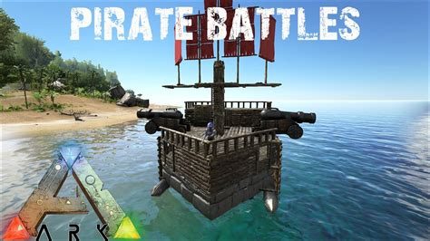 ark cannon boat ark survival evolved pirate ships and cannon battles