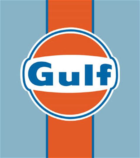 gulf racing logo things in gulf racing colours