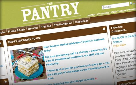 New Seasons Pantry by 3 Highly Effective Intranet Exles