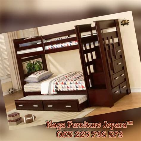 Tempat Tidur Anak Minimalis Jati Dipan Minimalis Tingkat dipan tingkat jati minimalis jepara nagafurniturejepara
