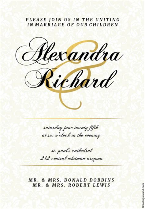 Sle Wedding Invitations by Royal Blue Wedding Invitation Templates Free Wedding