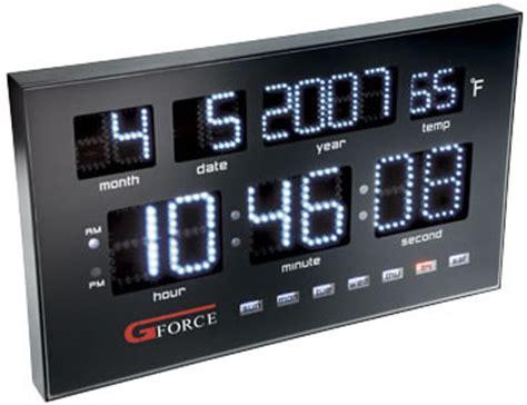 Gforce Power Led Calendar Clock power led calendar clock from gforce