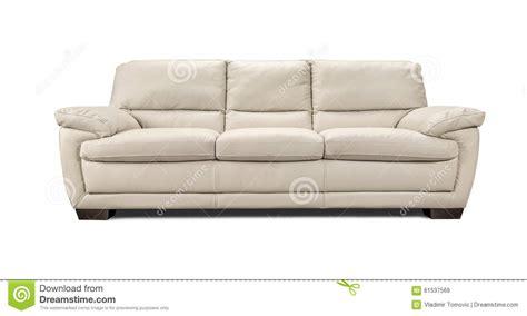 Luxury White Leather Sofa Luxury Leather Sofa Isolated On White Background Stock Photo Image 61537569