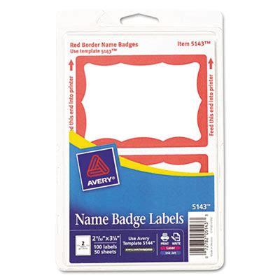 Printable Adhesive Name Tags | avery 5143 printable self adhesive name badges