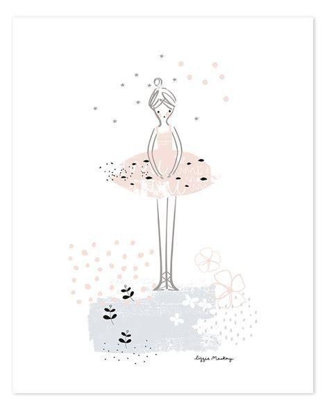 kinderzimmer deko poster lilipinso kinderzimmer poster ballerina rosa schwarz