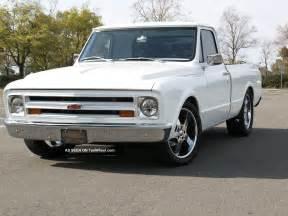 custom white 1967 chevy c10 small window fleetside