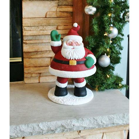 design house 15 5 quot santa bobble lawn holiday christmas