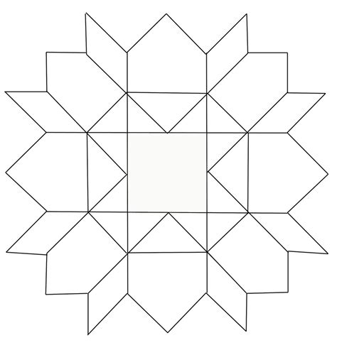 blank pattern block templates to play with layout of block did a line drawing so i flickr