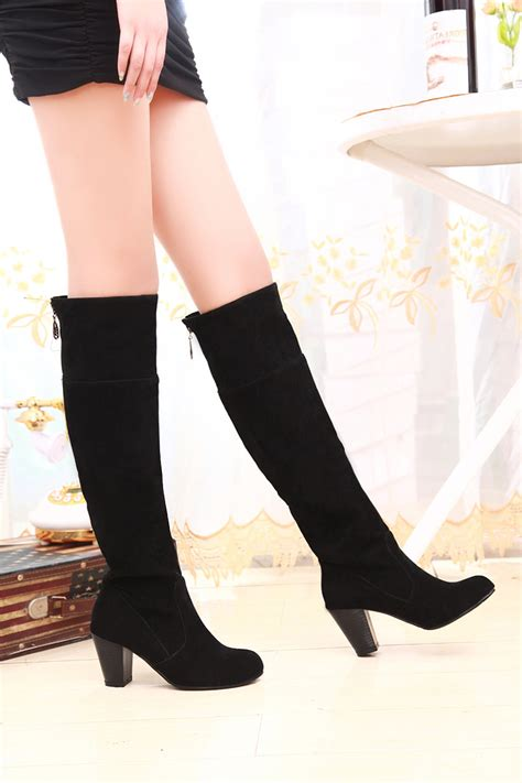 new 2014 the knee high boots motorcycle boots