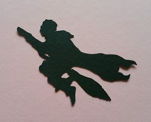 18 x handmade harry potter flying silhouettes craft card