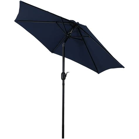 7 patio umbrella patio market umbrella w tilt crank 7 5 foot aluminum colors ebay