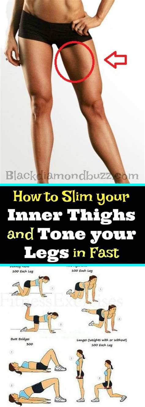 8 Exercises To Tone Your Legs by Entra 238 Nement How To Slim Your Inner Thighs And