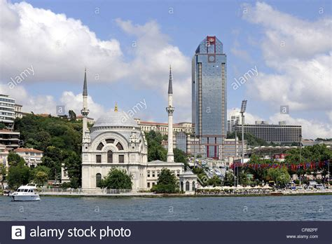 turkish bank istanbul dolmabahce camii or benzmi alem valide sultan camii mosque