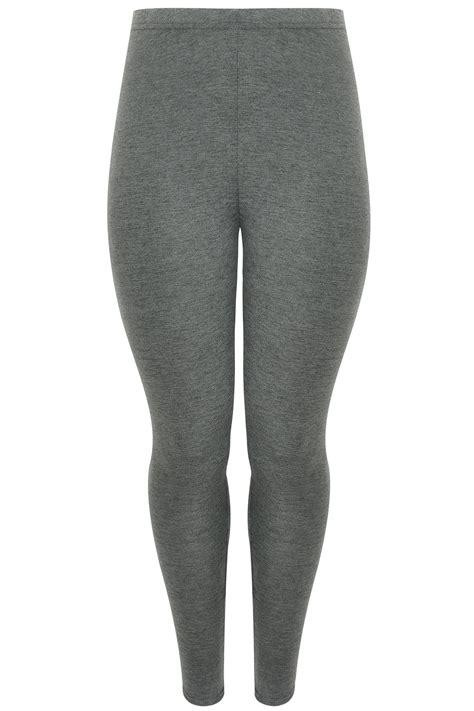 Visa Gift Card Price Check - dark grey marl viscose elastane leggings plus size 16 to 36