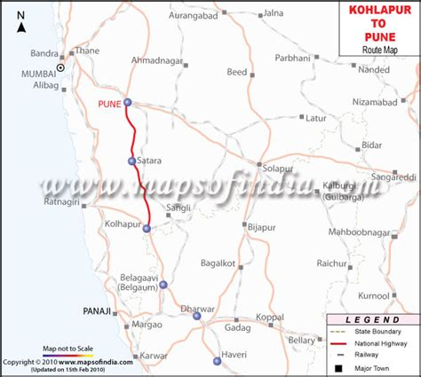 Kolhapur to Pune Route Map