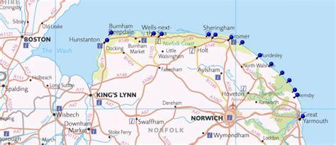 map uk beaches norfolk coast map my