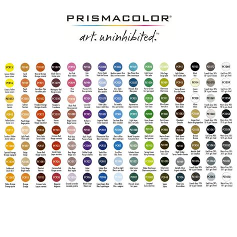 prismacolor color chart prismacolor sets premier colored pencils jerry s artarama