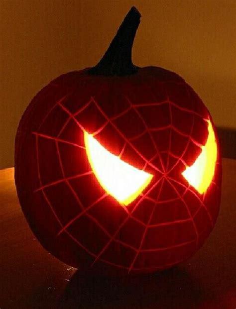 Spiderman Pattern For Pumpkin | 42 geek and nerdy pumpkin ideas for halloween digsdigs