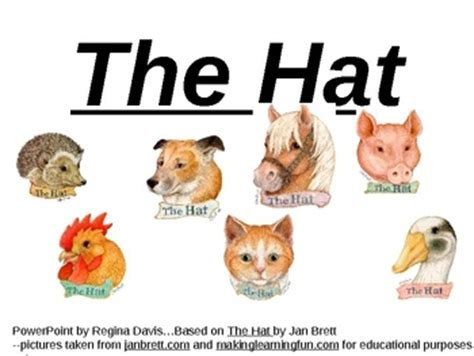 The Mitten And The Hat Characters   New Calendar Template Site
