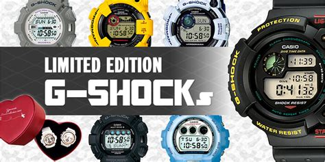 Limited Edition G Shock 10 limited edition g shocks from japan from japan